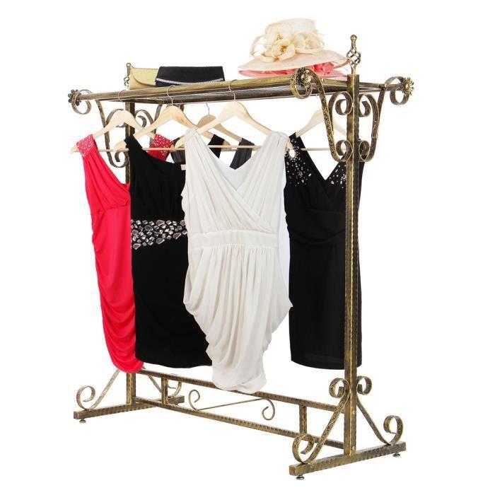 songmics portant penderie v tement m tal porte manteau garde robe portant pour v tements. Black Bedroom Furniture Sets. Home Design Ideas