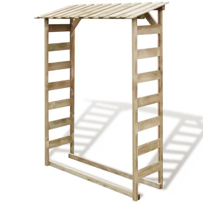 abri en bois pour bois de chauffage achat vente abri buches abri en bois pour bois de c. Black Bedroom Furniture Sets. Home Design Ideas