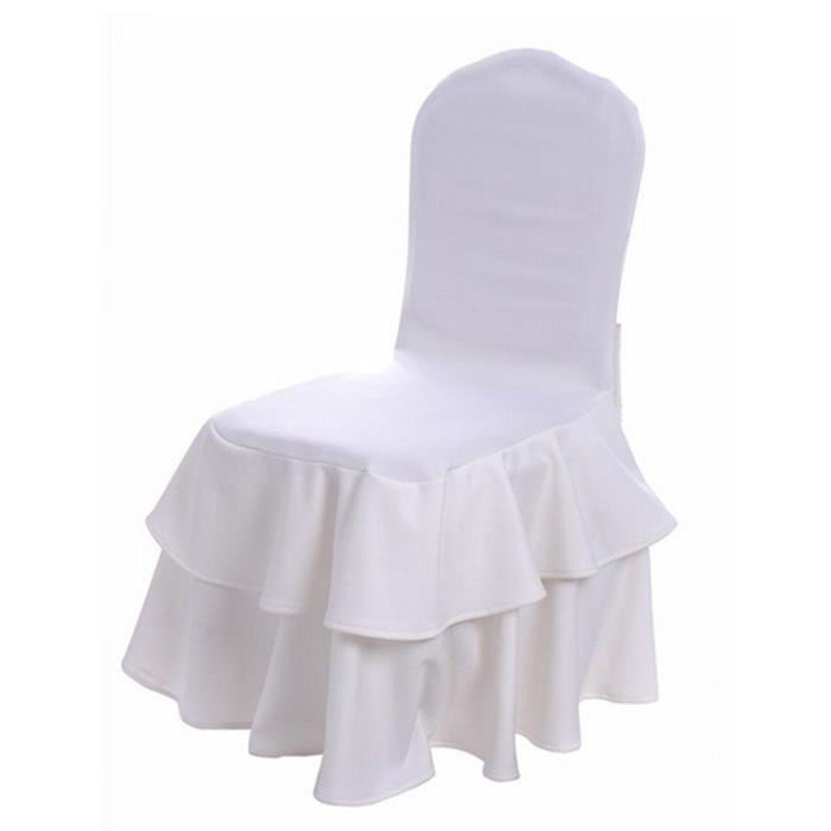 Chaise fourreaux lastique chaise slipcovers spandex pour for Housse de chaise beige