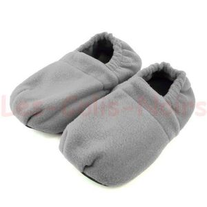 CHAUSSON - PANTOUFLE Chaussons Chauffant style HOT SOX Gris XL (43-45)