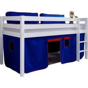 lit sureleve mi hauteur achat vente lit sureleve mi hauteur pas cher cdiscount. Black Bedroom Furniture Sets. Home Design Ideas