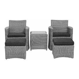 Chaise resine tressee blanche achat vente chaise - Ensemble de jardin en resine tressee pas cher ...