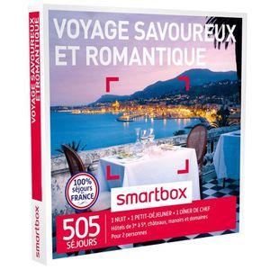 COFFRET SÉJOUR Coffret Cadeau Voyage savoureux et romantique - 40