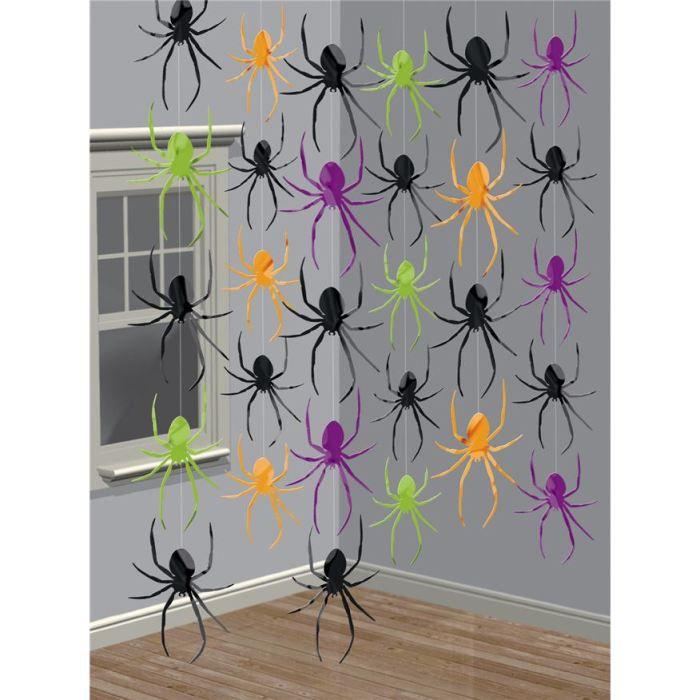 D corations suspendre araign es achat vente d co de f te murale plastiq - Decoration a suspendre ...