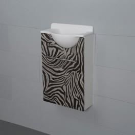 Meuble lave mains mikro z bre court gauche achat vente for Meuble zebre