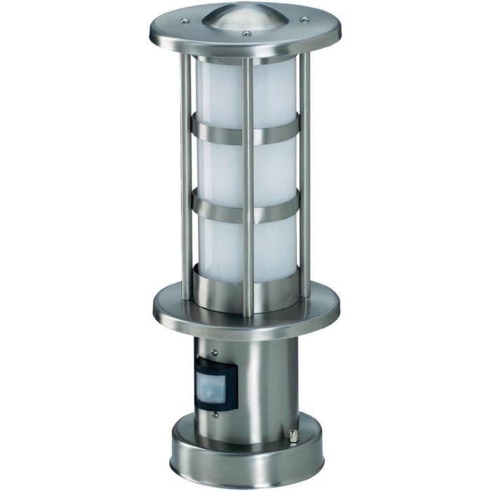 Lampe D 39 Ext Rieur Avec Pir En Acier Inox 30 Cm Achat