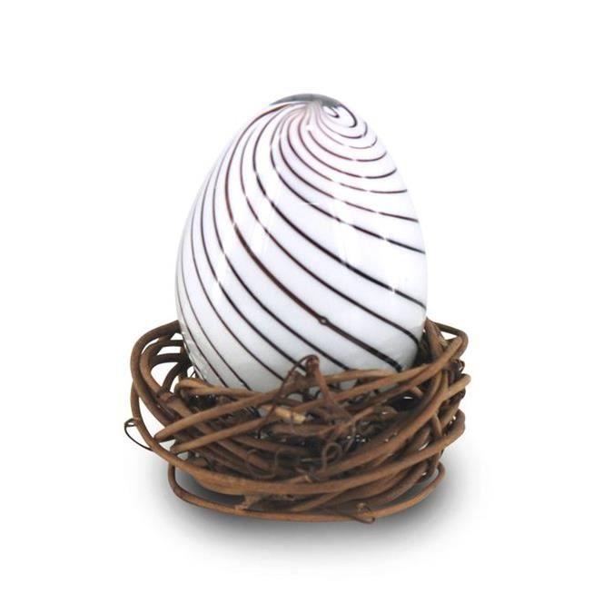 Objet decoratif nid avec oeuf en cristal 7 cm achat for Objets decoratifs maison