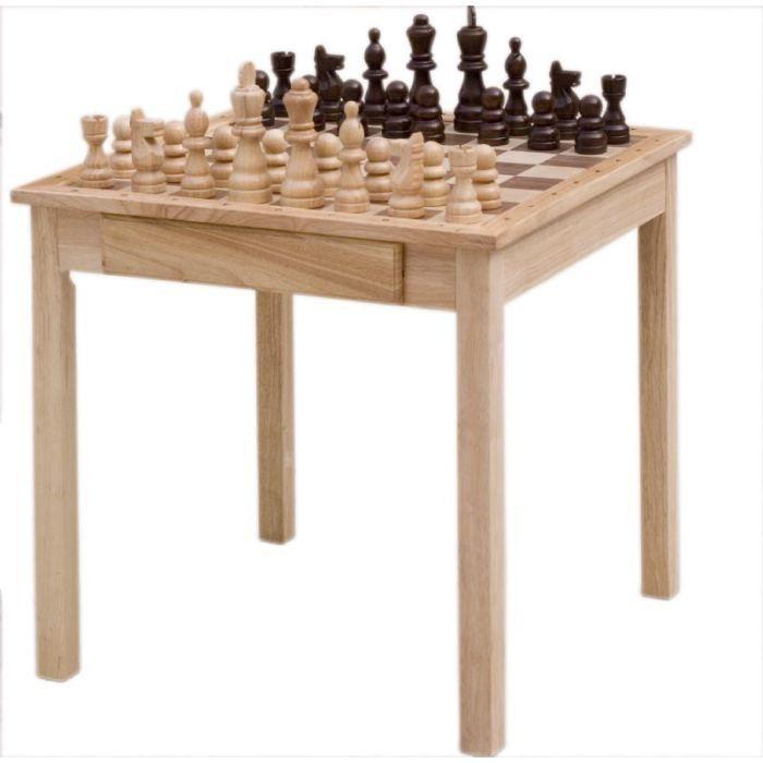 Table d 39 checs en bois solide achat vente jeu soci t plateau cdi - Table de jeux 5 en 1 ...