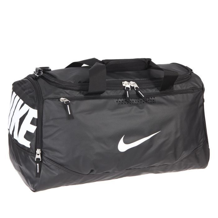 nike sac de sport taille m mixte noir et blanc achat vente sac de sport 3606507821932. Black Bedroom Furniture Sets. Home Design Ideas