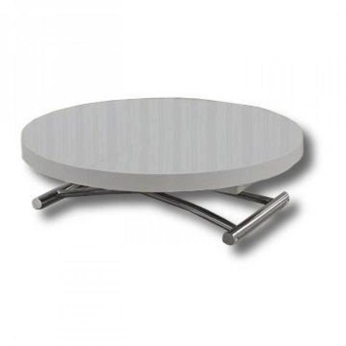 table relevable extensible ronde. Black Bedroom Furniture Sets. Home Design Ideas