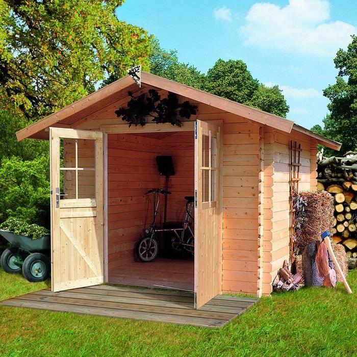 Abri de jardin bois m2 norden 1 28mm 226 achat vente abri jardin chalet abri de for Abri de jardin en bois la redoute