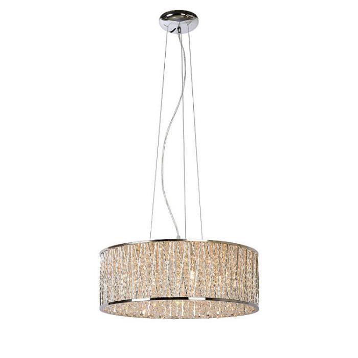 lucide suspension ronde viro d48 cm chrome achat vente lucide suspension ronde v. Black Bedroom Furniture Sets. Home Design Ideas