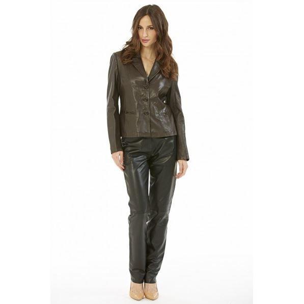 pantalon en cuir femme giovanni noir achat vente. Black Bedroom Furniture Sets. Home Design Ideas