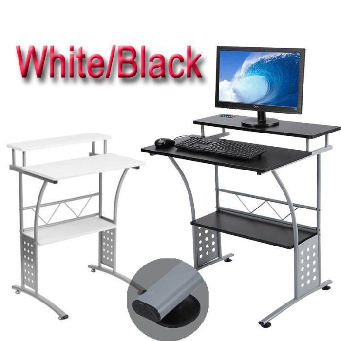 table d 39 ordinateur en acier avec l 39 tag re de clavier meuble de maison de bureau et de chambre. Black Bedroom Furniture Sets. Home Design Ideas