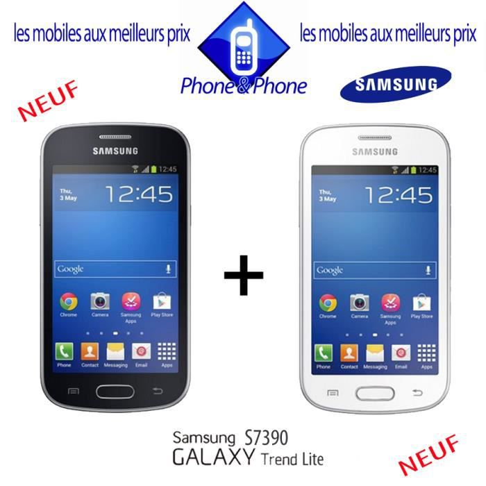 telephonie telephone mobile pack duo samsung galaxy trend f  sam