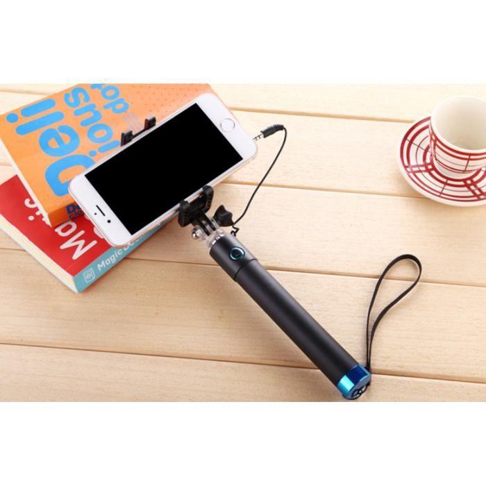 selfie stick pour iphone samsung et autres en bleu achat manette volant pas cher avis et. Black Bedroom Furniture Sets. Home Design Ideas