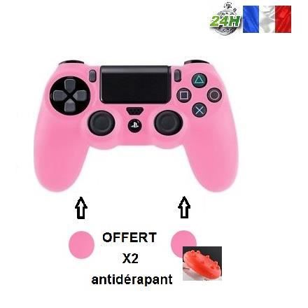 protection manette silicone rose housse tui coque pour playstation sony ps4 4 anti choc. Black Bedroom Furniture Sets. Home Design Ideas