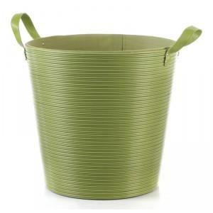 Panier linge plastique vert 40cm achat vente panier - Corbeille a linge plastique ...