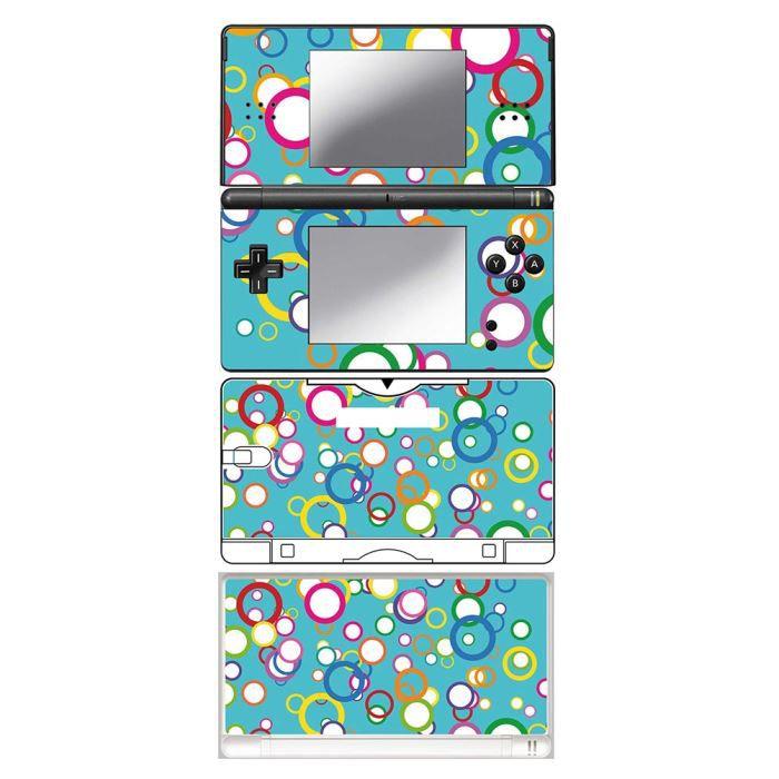 skin stickers pour nintendo ds lite sticker circles achat vente protection ecran jeux. Black Bedroom Furniture Sets. Home Design Ideas