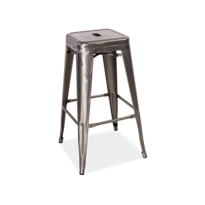 justhome s 2 tabouret de bar en acier oxydable 76 x 31 x 31 achat vente tabouret de bar gris. Black Bedroom Furniture Sets. Home Design Ideas