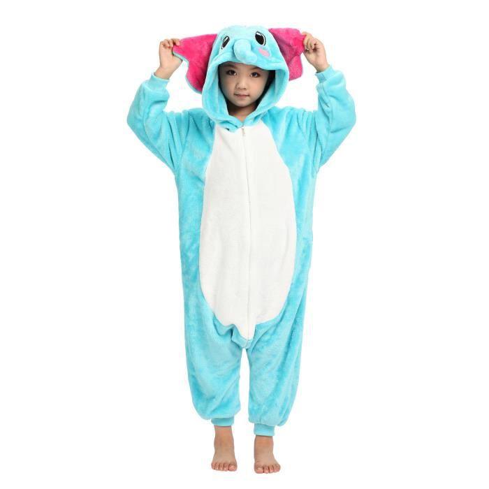 Kigurumi pyjamas animal cosplay enfant el phant achat - Pyjama elephant ...