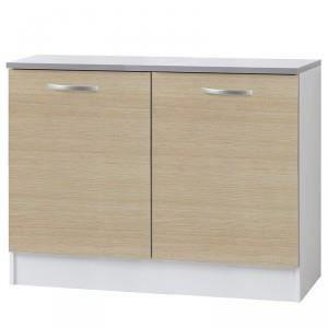 Paris prix meuble bas 2 portes 120cm smarty naturel for Meuble a bas prix