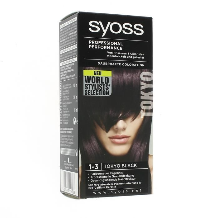 syoss coloration professionnelle 1 3 tokyo black - Syoss Coloration Prix