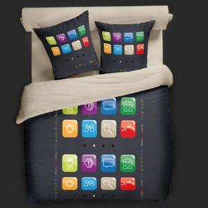 housse de couette emoji achat vente housse de couette emoji pas cher cdiscount. Black Bedroom Furniture Sets. Home Design Ideas