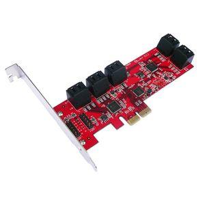 CARTE CONTROLEUR Carte PCIe 10 ports SATA 3.0 - Equerres Low et Hig