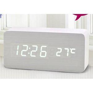 CHAMBRE COMPLÈTE  STR® Horloge Réveil Alarme Digital LED en Bois