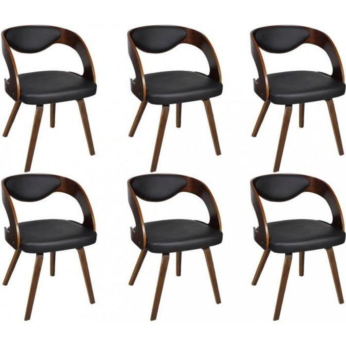 Chaises de cuisine et de salle a manger lot de 6 chaises a for Lot de 6 chaises salle a manger