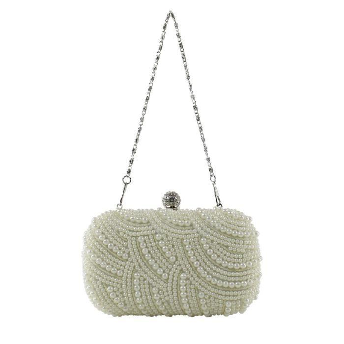 Sac A Main Blanc Pochette : Mini sac ? main clutch pochette blanc ?cru fantaisie