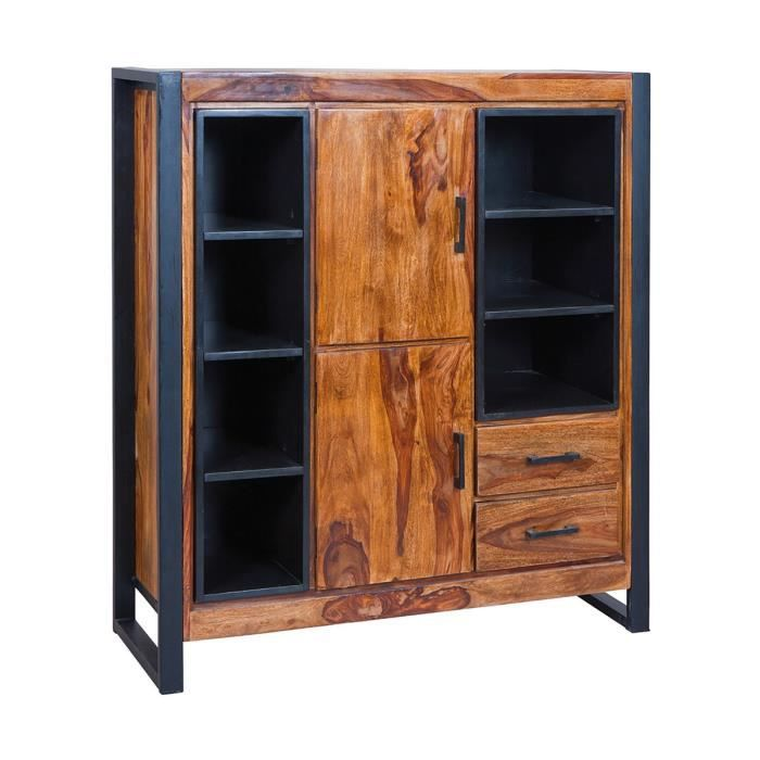 foss bahut 2 portes 2 tiroirs marron achat vente buffet bahut foss bahut 2 portes 2. Black Bedroom Furniture Sets. Home Design Ideas