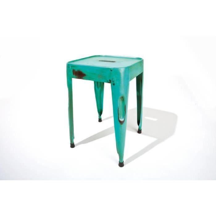 lot de 4 tabourets industriels marley couleur bleu achat vente tabouret m tal cdiscount. Black Bedroom Furniture Sets. Home Design Ideas