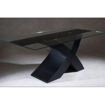 El tres cubano - Table a manger noir laque ...