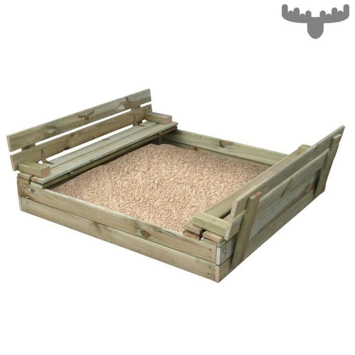 fatmoose bac sable avec couvercle 110x125cm achat vente bac sable cdiscount. Black Bedroom Furniture Sets. Home Design Ideas