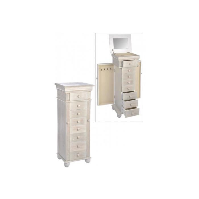 Meuble bijoux carre 8 tiroirs 2 portes bois n achat for Petit meuble 2 tiroirs