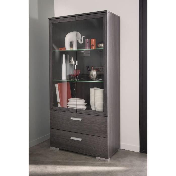 knok vitrine ch ne cendr achat vente vitrine. Black Bedroom Furniture Sets. Home Design Ideas