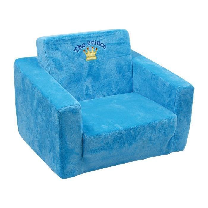 fauteuil bleu tout doux pour enfant achat vente chauffeuse cdiscount. Black Bedroom Furniture Sets. Home Design Ideas