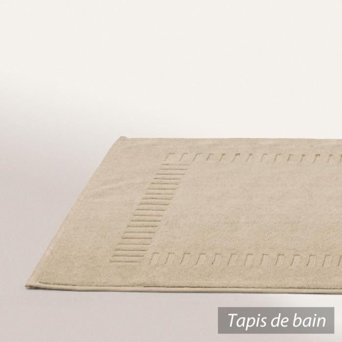 tapis de bain 50x70 cm pure beige 700 g m2 achat vente tapis de bain cdiscount. Black Bedroom Furniture Sets. Home Design Ideas