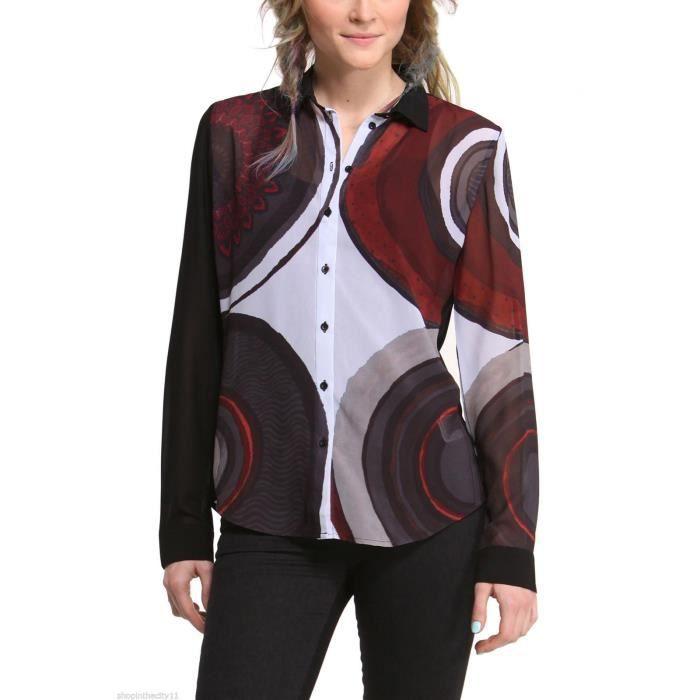 nouveaut s 2015 chemise desigual femme isabel noir achat vente chemise chemisette cdiscount. Black Bedroom Furniture Sets. Home Design Ideas