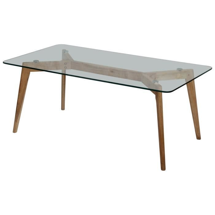 Table basse design verre et bois fiord achat vente table basse - Table salon verre design ...