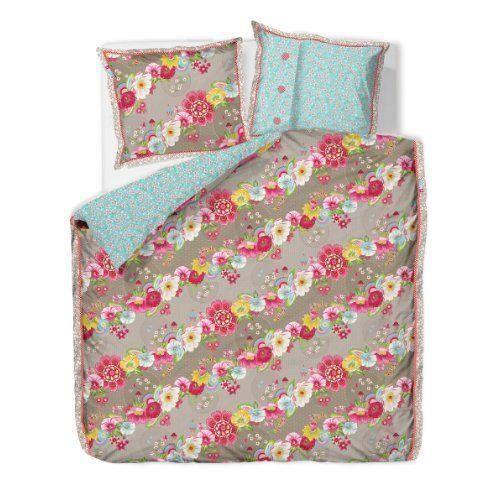 pip studio 26002070003 housse de couette swinging flower 240 x 220 cm 2 taies d 39 oreillers 65 x. Black Bedroom Furniture Sets. Home Design Ideas