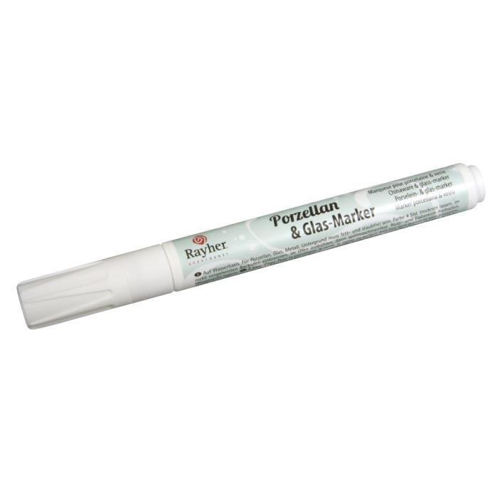 Feutre marqueur pour porcelaine et verre blan achat vente marqueur f - Stylo pour porcelaine ...