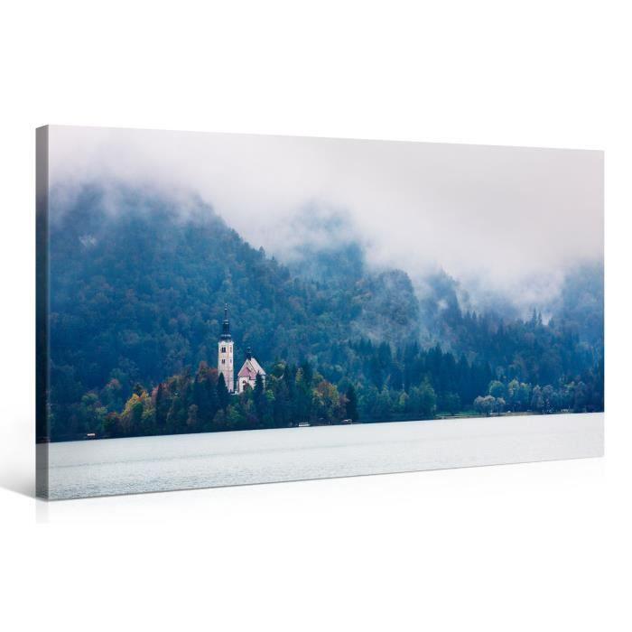 Tableau sur toile eglise ile 100x50cm achat vente for Tableau impression sur toile
