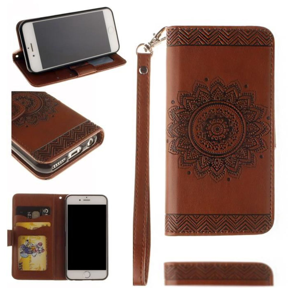 Tui housse luxe coque iphone 6 6s plus 5 5 portefeuille for Etui housse iphone 5