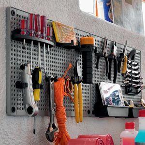 porte outils mural achat vente porte outils mural pas cher les soldes sur cdiscount. Black Bedroom Furniture Sets. Home Design Ideas