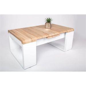 Table basse chene sonoma clair achat vente table basse - Table basse chene sonoma ...