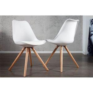 Chaise design Noeline blanc   Par 2