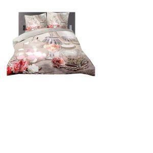 parure drap housse 3d 220 240 achat vente parure drap housse 3d 220 240 pas cher cdiscount. Black Bedroom Furniture Sets. Home Design Ideas